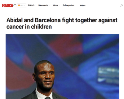 Abidal and Barcelona fight together against cancer in children